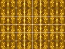 Wzór płytki (złoto) Obrazy Stock