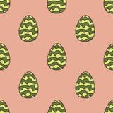 Wzór pasiaści dinosaurów jajka Obraz Stock