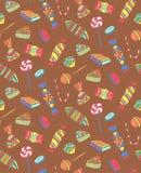 Wzór Różni cukierki Bez uderzenia Obrazy Stock