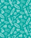 Wzór Różni Konturowi cukierki Obraz Stock