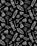 Wzór Różni Konturowi cukierki Obrazy Royalty Free