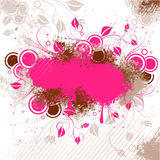 wzór różowy brown kwieciste Ilustracji