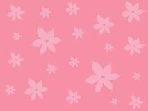 wzór różowy kwieciste royalty ilustracja