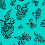 Wzór roślina elementów turkusu tło Zdjęcie Stock