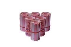Wzór rolki Tajlandia banknot na odosobnionym tle Obraz Royalty Free