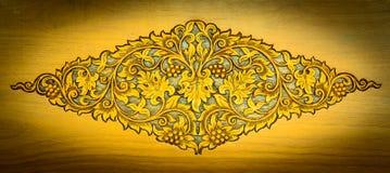 Wzór rzeźbiący drewno obraz royalty free