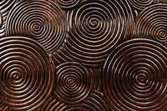 Wzór rzeźbiący okrąg na drewnie Fotografia Royalty Free