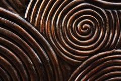 Wzór rzeźbiący okrąg na drewnie Zdjęcia Stock