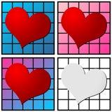 wzór serce Obraz Royalty Free
