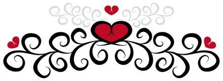 wzór serce Obrazy Stock