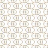 Wzór Stylizowane Miedzianego drutu obrączki ślubne Obrazy Stock