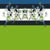 Wzór stylizowane postacie atlety używa smołę i zoom ilustracji