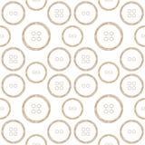 Wzór Stylizowani Miedzianego drutu guziki Zdjęcie Royalty Free