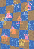 wzór szachowy checker szachownica ilustracja wektor