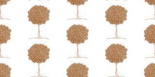Wzór tangerine drzewa w zentangle stylu Obraz Royalty Free