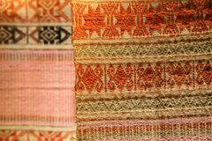 Wzór tradycyjne wyplatać tkaniny Zdjęcia Stock