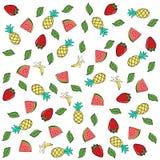 Wzór tropikalne owoc Zdjęcia Stock