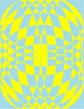 Wzór w żółtym i błękitnym Zdjęcia Royalty Free