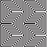 Wzór w czarny i biały - okulistyczny złudzenie ilustracja wektor