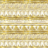 Wzór w zygzag Klasycznego szewronu błyskotliwości bezszwowy złocisty wzór royalty ilustracja