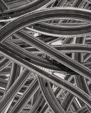 Wzór wiele drogi z samochodami ilustracji