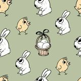 Wzór Wielkanocni symbole Obrazy Royalty Free