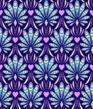 Wzór z abstrakcjonistycznymi pawimi piórkami ilustracji