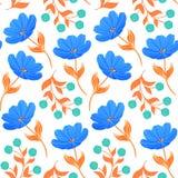 Wzór z błękitnymi tulipanami ilustracja wektor