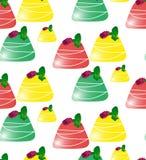 Wzór z barwionymi cukierkami Obrazy Stock