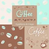 4 wzór z coffe i logo dla napoju ilustracji