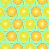 Wzór z cytryny i pomarańcze plasterkami ilustracji