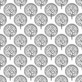 Wzór z czarnymi drzewami Obrazy Royalty Free