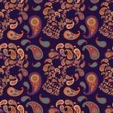 Wzór z czaszkami i Paisley Zdjęcia Royalty Free