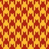 Wzór z czerwieni postaciami na żółtym tle Obraz Royalty Free