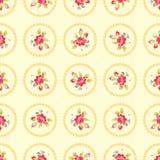 Wzór z czerwonymi różami Obrazy Stock