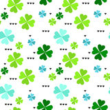 Wzór z cztery liść koniczyny liśćmi Fotografia Stock