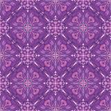 Wzór z dekoracyjnym symmetric ornamentem Zdjęcia Royalty Free