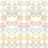 Wzór z eleganckimi bicyklami Fotografia Stock