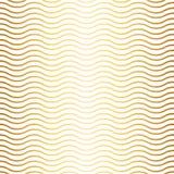 Wzór z fala złocistym gradientem i białym tłem Obrazy Royalty Free