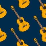 Wzór z gitars na nim Obrazy Stock