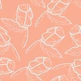 Wzór z ilustracją abstrakcjonistyczny origami czerwieni róży kwiat O Zdjęcia Stock