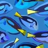 Wzór z jaskrawą błękit ryba Zdjęcia Stock