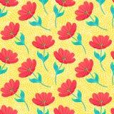 Wzór z jaskrawymi tulipanami ilustracji