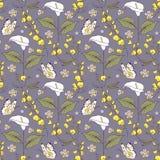Wzór z kalia kwiatami royalty ilustracja