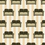 Wzór z kanapami Zdjęcia Stock