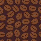 Wzór z kawowymi fasolami Fotografia Royalty Free