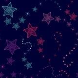 Wzór z kolorowymi abstrakcjonistycznymi kometami royalty ilustracja