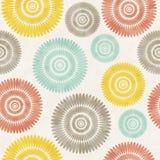 Wzór z kolorowymi okręgami Bezszwowy tło Obrazy Royalty Free