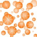 Wzór z koszykówką Obrazy Royalty Free