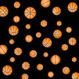 Wzór z koszykówką Zdjęcie Stock